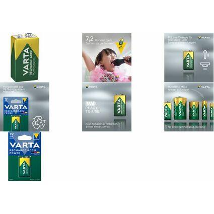 "VARTA NiMH Akku ""Rechargeable Accu"", E-Block (6F22)"