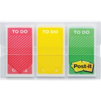 """Post-it Haftstreifen Index """"ToDo"""", 25,4 x 43,2 mm, 3-farbig"""