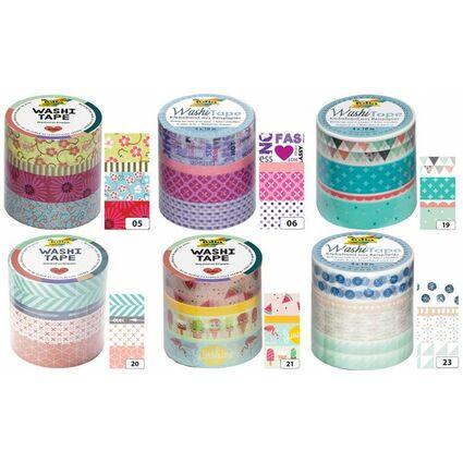 folia deko klebeband washi tape blumenreigen 4er set 26405 bei g nstig kaufen. Black Bedroom Furniture Sets. Home Design Ideas