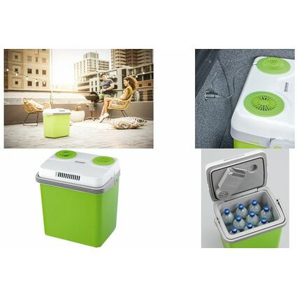SEVERIN Elektrische Kühlbox KB 2918, 58 Watt, grün / grau