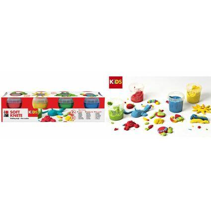 Marabu KiDS Spielknete-Set, 4er Basisfarben