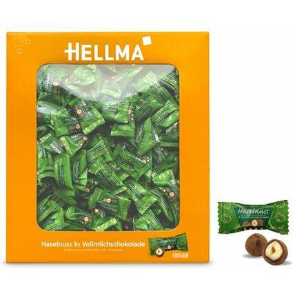 HELLMA Haselnuss in Vollmilchschokolade, im Karton
