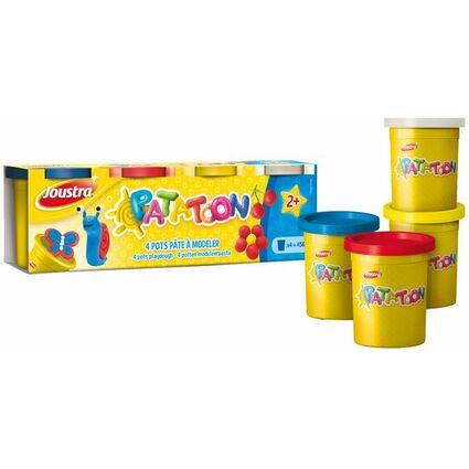 Joustra Spielknete-Set PATATOON, 4 Basisfarben, 456 g