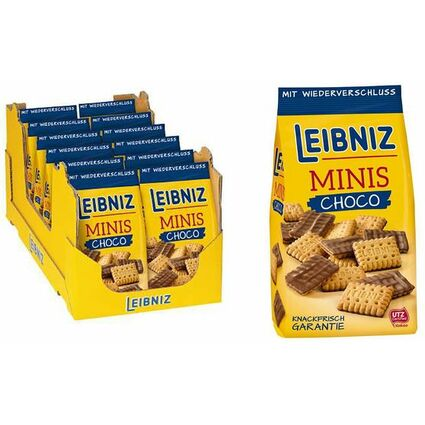LEIBNIZ Butterkeks Minis Choco, 125 g Beutel, im Display