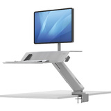 Fellowes sitz-steh Workstation lotus RT für 1 Monitor, weiß