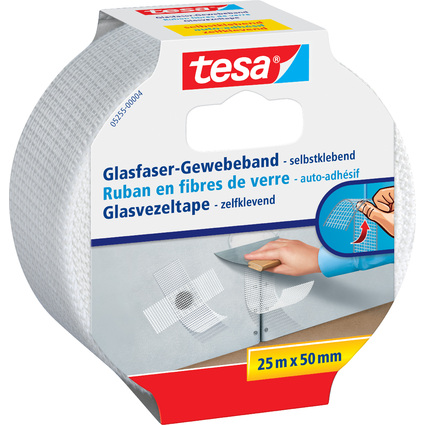 tesa Glasfaser-Gewebeband, selbstklebend, 50 mm x 25 m