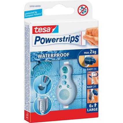tesa Powerstrips Klebepads LARGE WATERPROOF, weiß