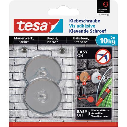 tesa Klebeschraube für Mauerwerk, rund, 10 kg