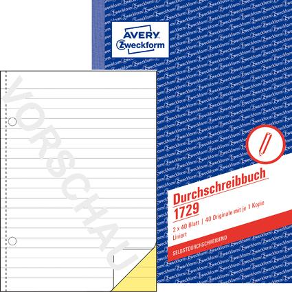 """AVERY Zweckform Formularbuch """"Durchschreibebuch"""", A5"""