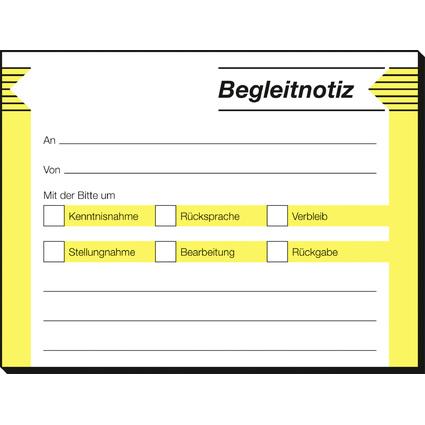 "sigel Haftformular ""Begleitnotiz"", 100 x 75 mm, 50 Blatt"