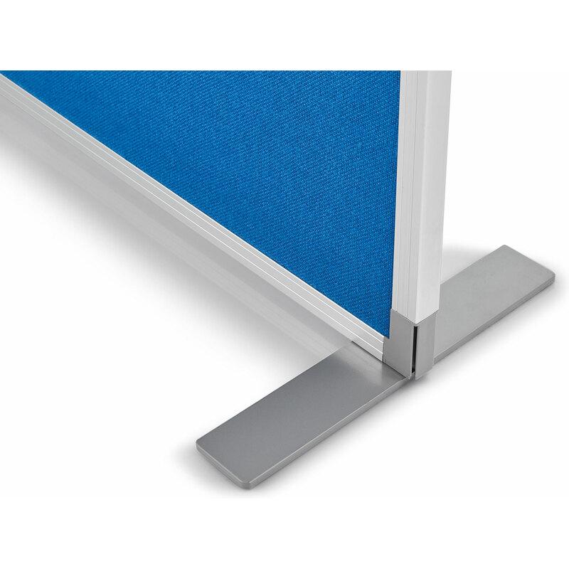 magnetoplan Raumteiler Textil, blau, mit Aluminiumrahmen 1103803 bei ...