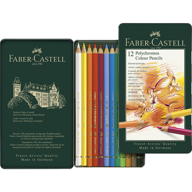 faber castell buntstifte polychromos 12er metalletui 110012 bei g nstig kaufen. Black Bedroom Furniture Sets. Home Design Ideas
