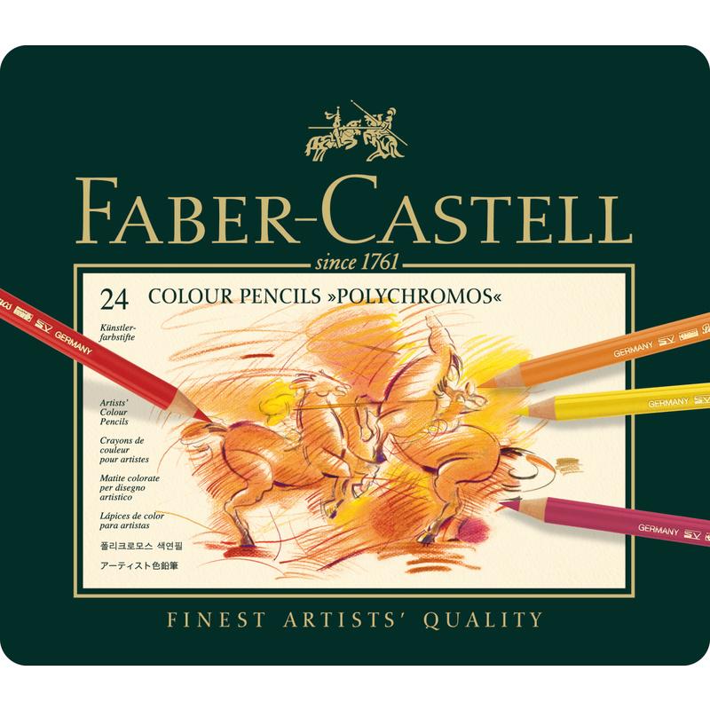 faber castell buntstifte polychromos 24er metalletui 110024 bei g nstig kaufen. Black Bedroom Furniture Sets. Home Design Ideas