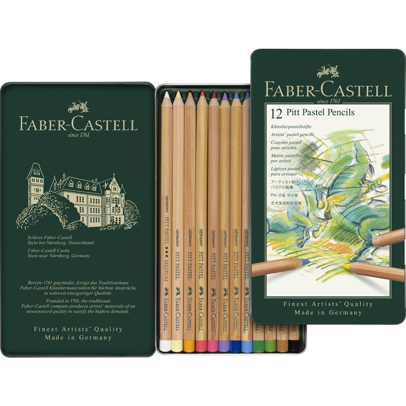 faber castell buntstifte pitt pastell 12er metalletui. Black Bedroom Furniture Sets. Home Design Ideas