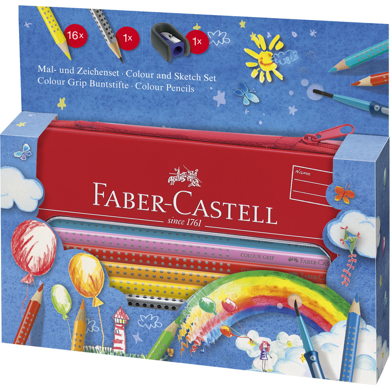faber castell dreikant buntstifte colour grip set ballon. Black Bedroom Furniture Sets. Home Design Ideas