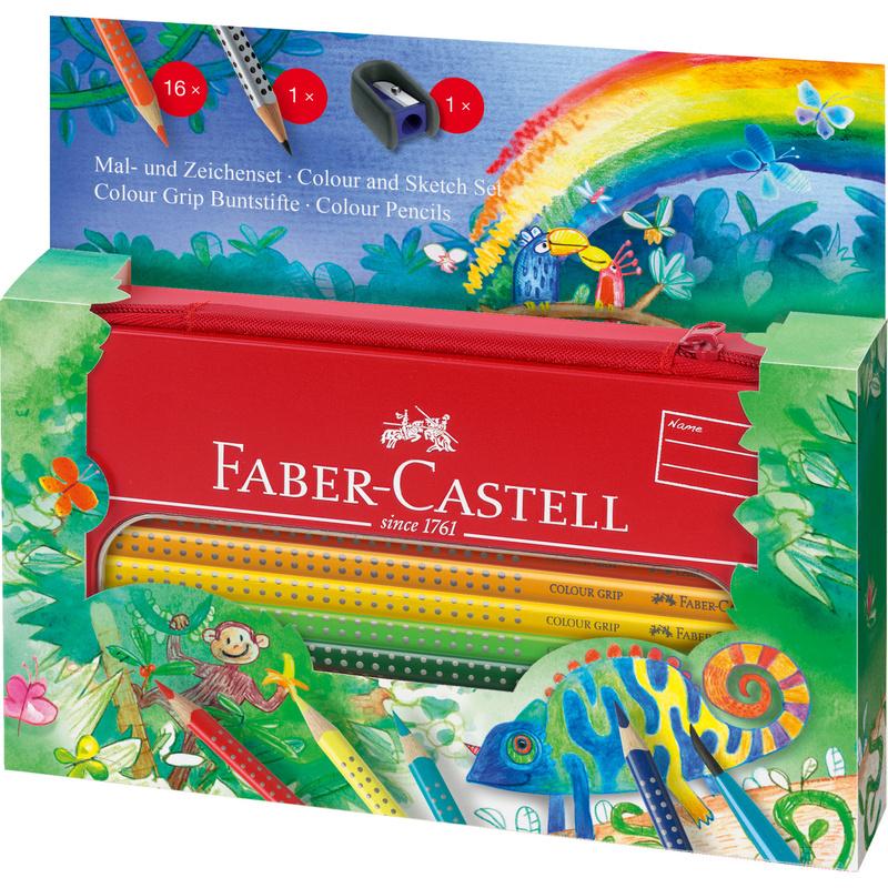 faber castell dreikant buntstifte colour grip set. Black Bedroom Furniture Sets. Home Design Ideas