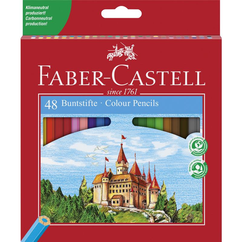 faber castell hexagonal buntstifte eco 48er kartonetui. Black Bedroom Furniture Sets. Home Design Ideas