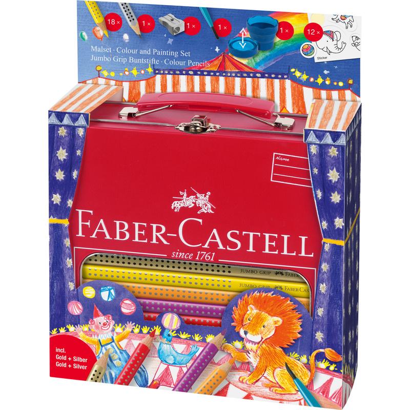 faber castell dreikant buntstifte jumbo grip set zirkus. Black Bedroom Furniture Sets. Home Design Ideas