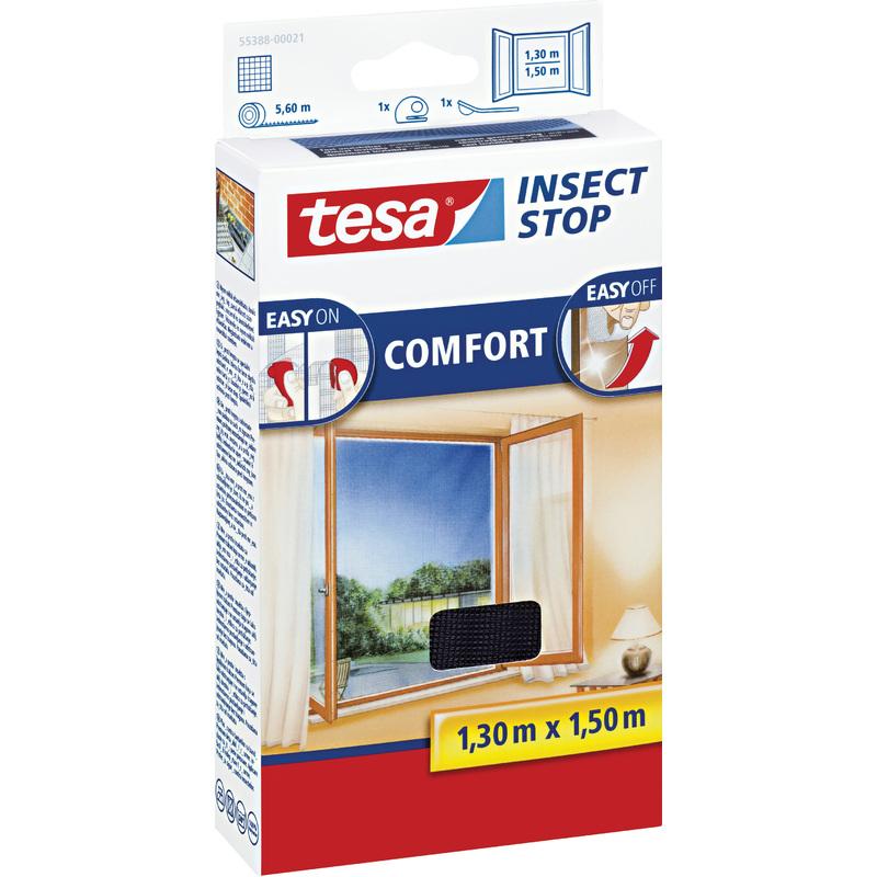 tesa fliegengitter comfort f r fenster 1 30 m x 1 50 m 55388 00021 00 bei. Black Bedroom Furniture Sets. Home Design Ideas