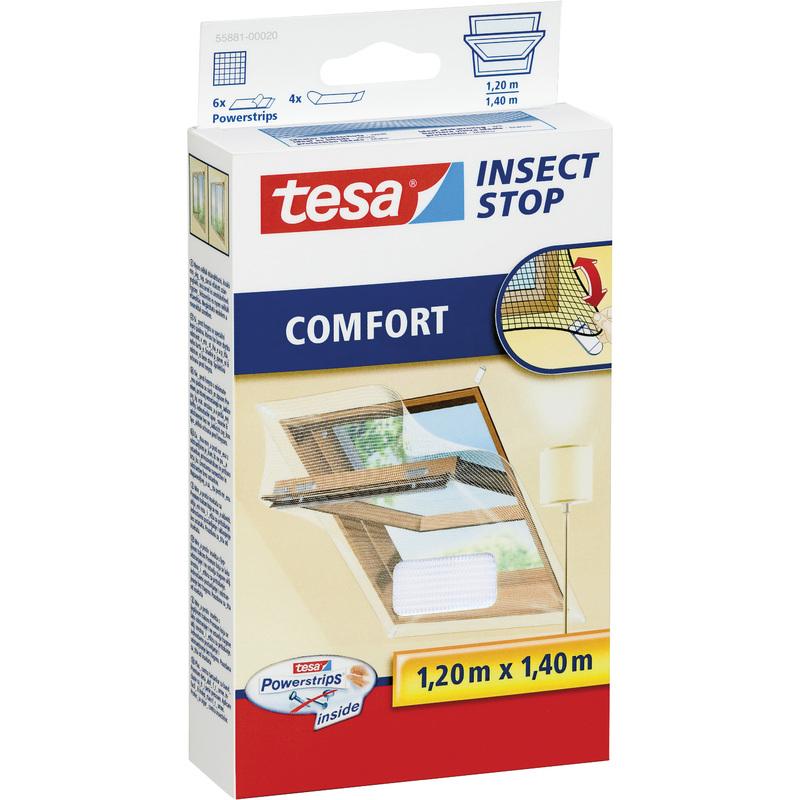 tesa fliegengitter comfort f r dachfenster 1 20 x 1 40 m 55881 00020 00 bei. Black Bedroom Furniture Sets. Home Design Ideas