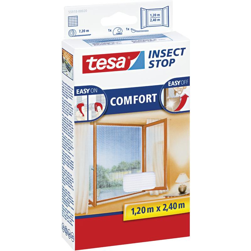 tesa fliegengitter comfort f r bodentiefe fenster wei 55918 00020 00 bei. Black Bedroom Furniture Sets. Home Design Ideas