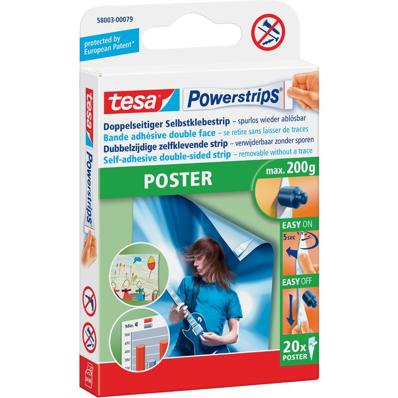 tesa powerstrips poster haltekraft max 0 2 kg 58003 00079 04 bei g nstig kaufen. Black Bedroom Furniture Sets. Home Design Ideas