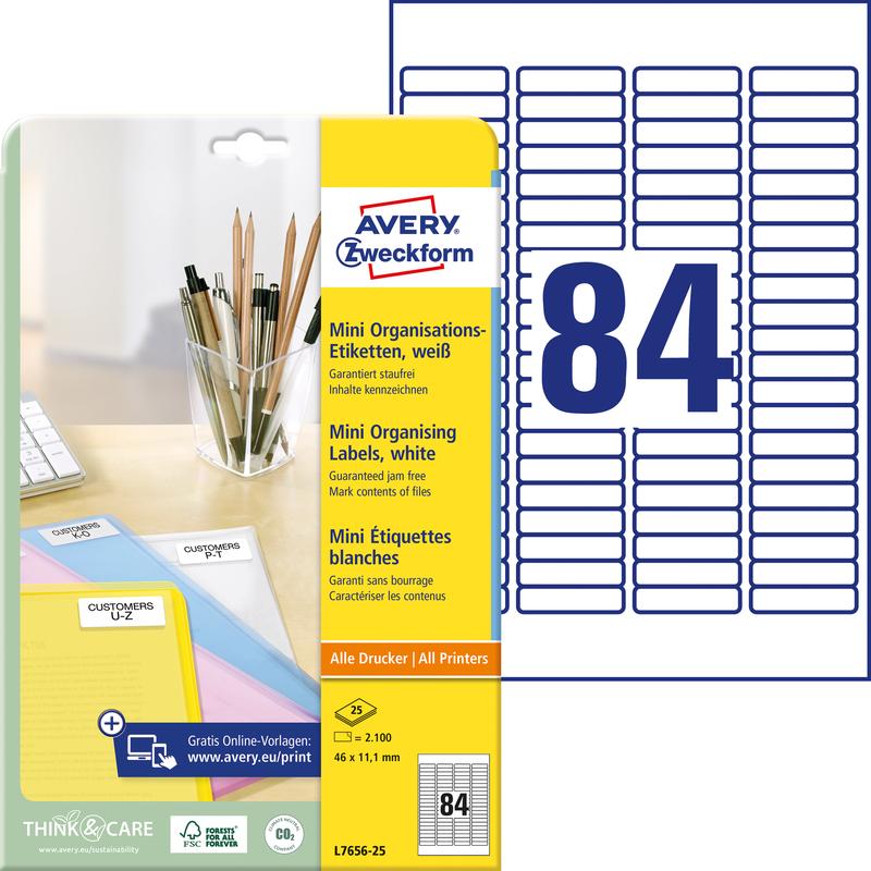 Avery Zweckform 3657 Universal Etiketten 8