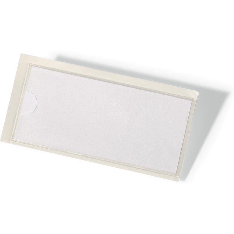 H DURABLE Selbstklebetaschen POCKETFIX 32 mm transparent 10 Stück 74 x B