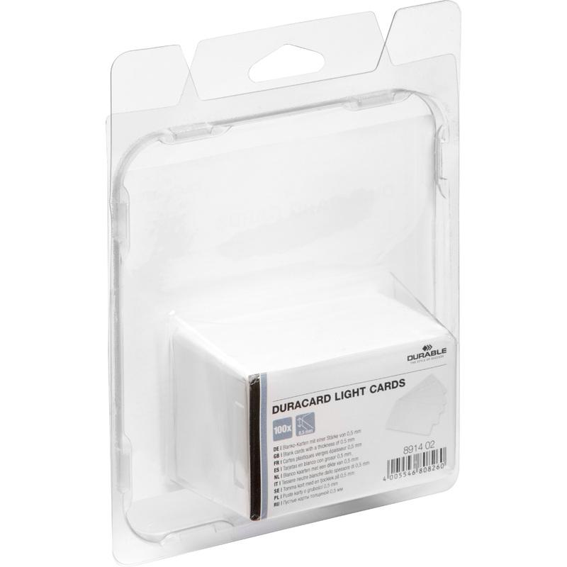 durable plastikkarten light f r kartendrucker duracard 8914 02 bei g nstig kaufen. Black Bedroom Furniture Sets. Home Design Ideas