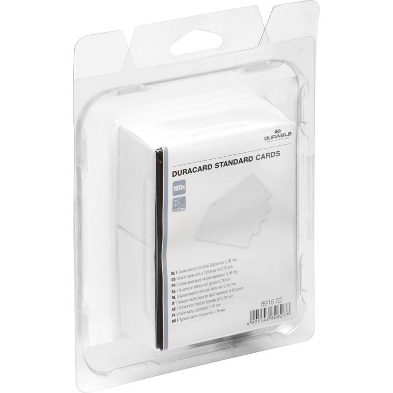 durable plastikkarten standard f r kartendrucker duracard 8915 02 bei g nstig. Black Bedroom Furniture Sets. Home Design Ideas
