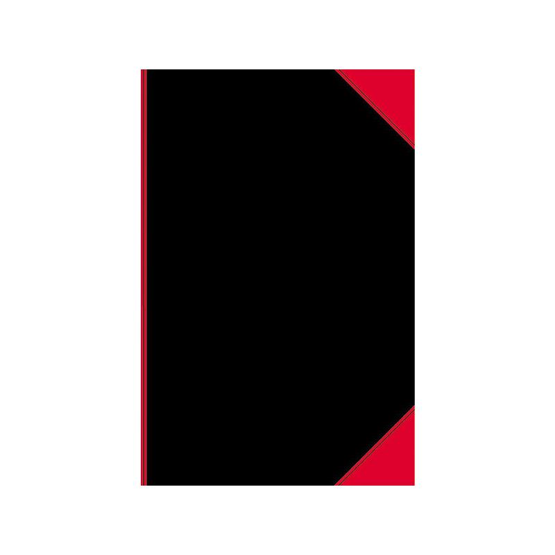 LANDRE 100302813 China-Kladde 6 St/ück A5 liniert 60 g//m/² holzfrei 96 Blatt Notiz-Buch schwarz//rot