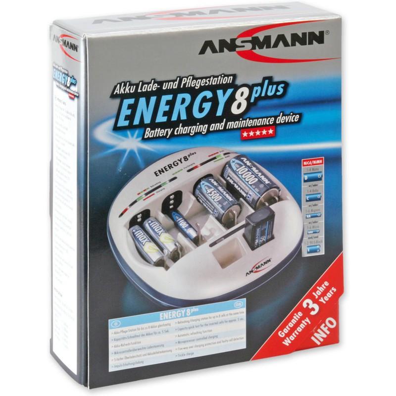 ANSMANN Lade und Pflegestation ENERGY 8 plus, für Akkus