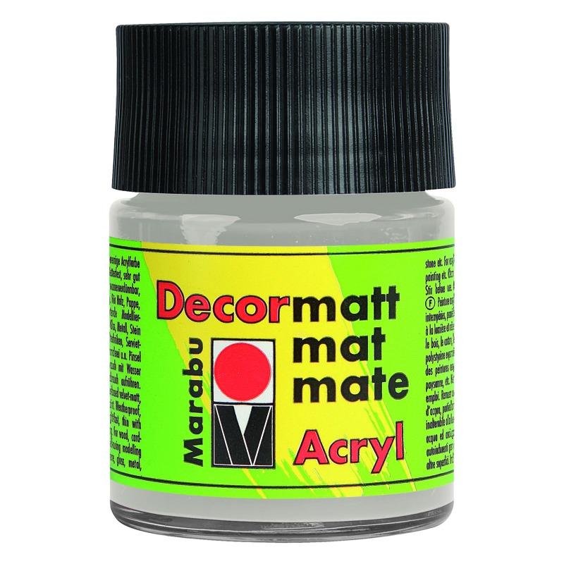 marabu acrylfarbe decormatt metallic silber 50 ml glas 14010005782 bei. Black Bedroom Furniture Sets. Home Design Ideas
